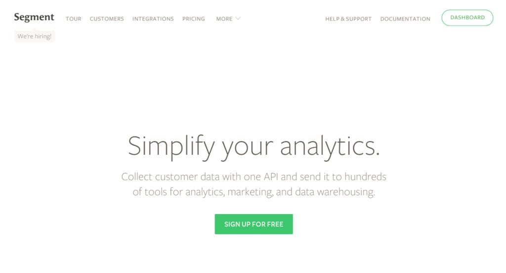 Segment   We make customer data simple.